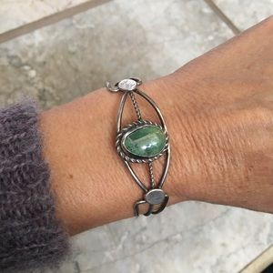 Jewelry - Sterling Silver Turquoise Cuff Bracelet